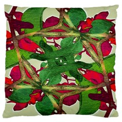 Floral Print Colorful Pattern Large Cushion Case (two Sided)  by dflcprints