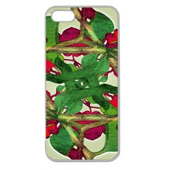 Floral Print Colorful Pattern Apple Seamless Iphone 5 Case (clear) by dflcprints