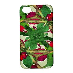 Floral Print Colorful Pattern Apple Iphone 4/4s Hardshell Case With Stand by dflcprints