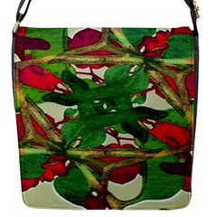 Floral Print Colorful Pattern Flap Closure Messenger Bag (small) by dflcprints