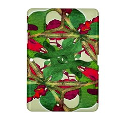 Floral Print Colorful Pattern Samsung Galaxy Tab 2 (10 1 ) P5100 Hardshell Case  by dflcprints