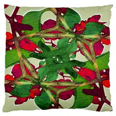 Floral Print Colorful Pattern Large Flano Cushion Case (one Side) by dflcprints