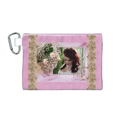 Pink Treasure Canvas Cosmetic Bag (medium) By Deborah   Canvas Cosmetic Bag (medium)   Y86eog0g29pq   Www Artscow Com Front