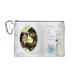 Our Love Canvas Cosmetic Bag (medium) By Deborah   Canvas Cosmetic Bag (medium)   I7mtrgxqilgn   Www Artscow Com Front