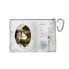 Our Love Canvas Cosmetic Bag (medium) By Deborah   Canvas Cosmetic Bag (medium)   I7mtrgxqilgn   Www Artscow Com Back