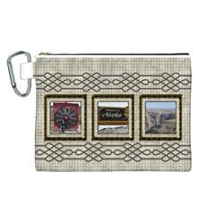 Choc Canvas Cosmetic Bag (large) By Deborah   Canvas Cosmetic Bag (large)   2uji87dzbyqq   Www Artscow Com Front