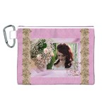 Pink Treasure Canvas Cosmetic Bag (Large)
