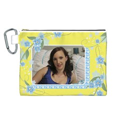 Sunny Canvas Cosmetic Bag (large) By Deborah   Canvas Cosmetic Bag (large)   Qq7v066kia2f   Www Artscow Com Front