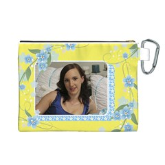 Sunny Canvas Cosmetic Bag (large) By Deborah   Canvas Cosmetic Bag (large)   Qq7v066kia2f   Www Artscow Com Back