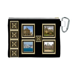 My Black And Gold Canvas Cosmetic Bag (large) By Deborah   Canvas Cosmetic Bag (large)   Ms49itzae7k0   Www Artscow Com Back