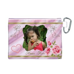 My Angel Canvas Cosmetic Bag (large) By Deborah   Canvas Cosmetic Bag (large)   Nu0cxz8ahkfa   Www Artscow Com Back