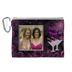 Party Time Canvas Cosmetic Bag (large) By Deborah   Canvas Cosmetic Bag (large)   Y392sgyipnhi   Www Artscow Com Front