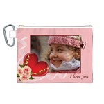Love you Canvas Cosmetic Bag (Large)