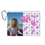 Butterfly Girl Canvas Cosmetic Bag (Large)