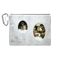 Love Canvas Cosmetic Bag (large) By Deborah   Canvas Cosmetic Bag (large)   Ptb9lay98k8u   Www Artscow Com Front