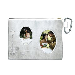Love Canvas Cosmetic Bag (large) By Deborah   Canvas Cosmetic Bag (large)   Ptb9lay98k8u   Www Artscow Com Back