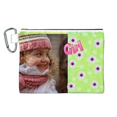 Girl Canvas Cosmetic Bag (large) By Deborah   Canvas Cosmetic Bag (large)   Jfwnr9ukgbxq   Www Artscow Com Front