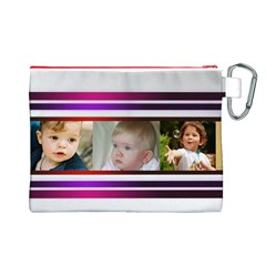 My Pretty Stripes Canvas Cosmetic Bag (large) By Deborah   Canvas Cosmetic Bag (large)   Fd4drnzcs9b3   Www Artscow Com Back
