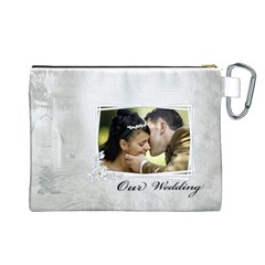 Our Wedding Canvas Cosmetic Bag (large) By Deborah   Canvas Cosmetic Bag (large)   Egk49eb9nqy0   Www Artscow Com Back