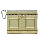 Little Gold Canvas Cosmetic Bag (Large)