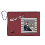 Man Bag Canvas Cosmetic Bag (Large)