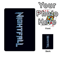 Nightfall Promos Deck 1 By Micah Liebert   Multi Purpose Cards (rectangle)   98m68dmhqi9j   Www Artscow Com Back 1