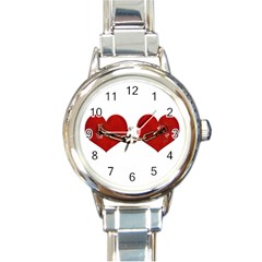 Unbreakable Love Concept Round Italian Charm Watch by dflcprints