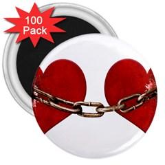 Unbreakable Love Concept 3  Button Magnet (100 Pack) by dflcprints