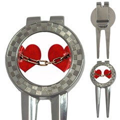 Unbreakable Love Concept Golf Pitchfork & Ball Marker by dflcprints