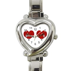 Unbreakable Love Concept Heart Italian Charm Watch  by dflcprints