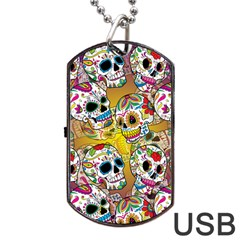 Geisha Dog Tag Usb Flash (two Sides) by UniqueandCustomGifts