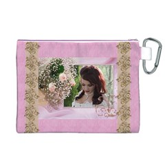 Pink Treasure  Canvas Cosmetic Bag (xl) By Deborah   Canvas Cosmetic Bag (xl)   W9240d3pzg7h   Www Artscow Com Back