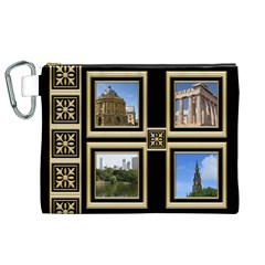 My Black And Gold Canvas Cosmetic Bag (xl) By Deborah   Canvas Cosmetic Bag (xl)   3bb0m11y2brx   Www Artscow Com Front