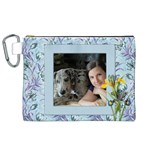 My Blue Wild Iris Canvas Cosmetic Bag (XL)
