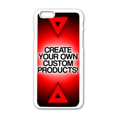 Create Your Own Custom Products And Gifts Apple Iphone 6 White Enamel Case by UniqueandCustomGifts