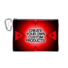 Create Your Own Custom Products And Gifts Canvas Cosmetic Bag (Medium) by UniqueandCustomGifts