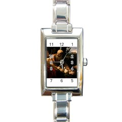 Abraham Rectangular Italian Charm Watch by RembrandtRowe