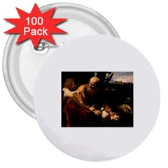 Abraham 3  Button (100 Pack) by RembrandtRowe
