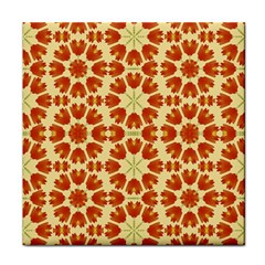 Colorful Floral Print Vector Style Ceramic Tile by dflcprints