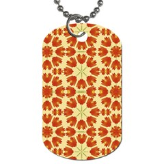 Colorful Floral Print Vector Style Dog Tag (one Sided) by dflcprints
