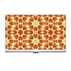 Colorful Floral Print Vector Style Business Card Holder by dflcprints