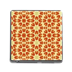 Colorful Floral Print Vector Style Memory Card Reader With Storage (square) by dflcprints