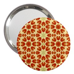 Colorful Floral Print Vector Style 3  Handbag Mirror by dflcprints