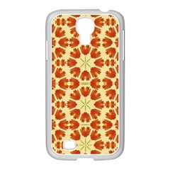 Colorful Floral Print Vector Style Samsung Galaxy S4 I9500/ I9505 Case (white) by dflcprints