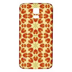 Colorful Floral Print Vector Style Samsung Galaxy S5 Back Case (white) by dflcprints