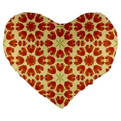 Colorful Floral Print Vector Style 19  Premium Flano Heart Shape Cushion by dflcprints