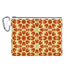 Colorful Floral Print Vector Style Canvas Cosmetic Bag (large) by dflcprints