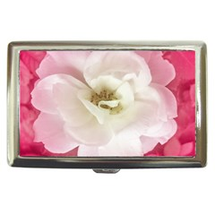 White Rose With Pink Leaves Around  Cigarette Money Case by dflcprints