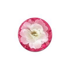 White Rose With Pink Leaves Around  Golf Ball Marker 4 Pack by dflcprints