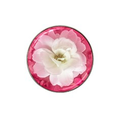 White Rose With Pink Leaves Around  Golf Ball Marker 10 Pack (for Hat Clip) by dflcprints